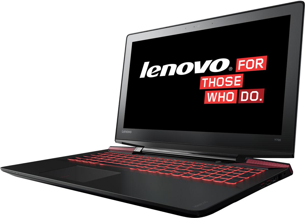 Lenovo IdeaPad Y700, Black (80NY0008RK)80NY0008RKБлагодаря яркому безрамочному дисплею Full HD высокого разрешения (1920 х 1080) 15-дюймовый ноутбук Lenovo IdeaPad Y700 идеально подходит для игр, просмотра фильмов и изображений. Широкоугольный дисплей с антибликовым покрытием поддерживает технологию In-Plane Switching technology (IPS), что обеспечивает яркие изображения, а также угол обзора почти 180°.В погоне за врагом вы не можете позволить себе уступить. Дискретная видеокарта AMD Radeon R9 M385 даёт вам возможность побеждать в любой ситуации.Наслаждайтесь объемным звуком где бы вы ни находились с технологией Dolby Home Theater. Встроенные стереофонические динамики JBL и сабвуфер обеспечивают превосходное качество звука в играх, при прослушивании музыки и просмотре видео.Не важно, насколько жаркие сражения вы ведете на экране - корпус ноутбука Lenovo IdeaPad Y700 всегда остается на удивление холодным. Система охлаждения обеспечивает регулировку скорости вращения вентиляторов и поддержку оптимальной температуры для повышения производительности и удобства использования вашего ноутбука.Подсветка клавиатуры имеет два уровня яркости, что позволит вам играть, путешествовать по просторам Интернета и общаться с друзьями даже ночью при выключенном освещении.Точные характеристики зависят от модификации.Ноутбук сертифицирован EAC и имеет русифицированную клавиатуру и Руководство пользователя.