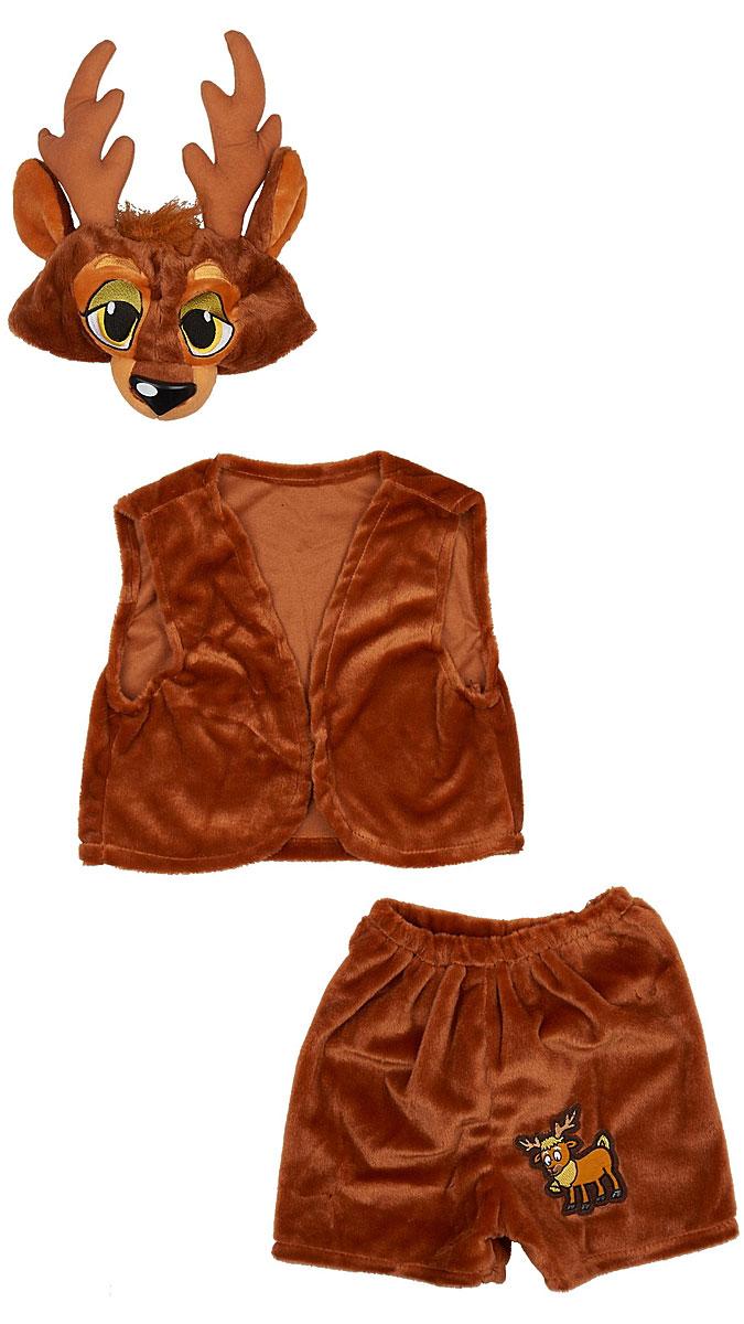 Карнавалия Карнавальный костюм для мальчика Олень размер 122