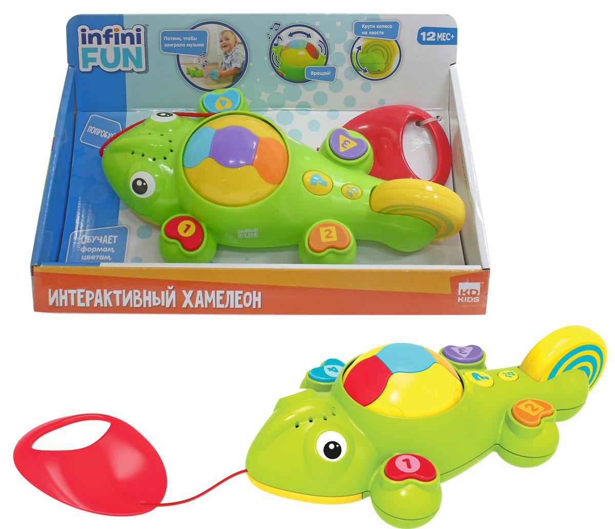 1TOY Игрушка-каталка Kidz Delight Интерактивный хамелеон смартфон 1toy обучающий kidz delight i lol