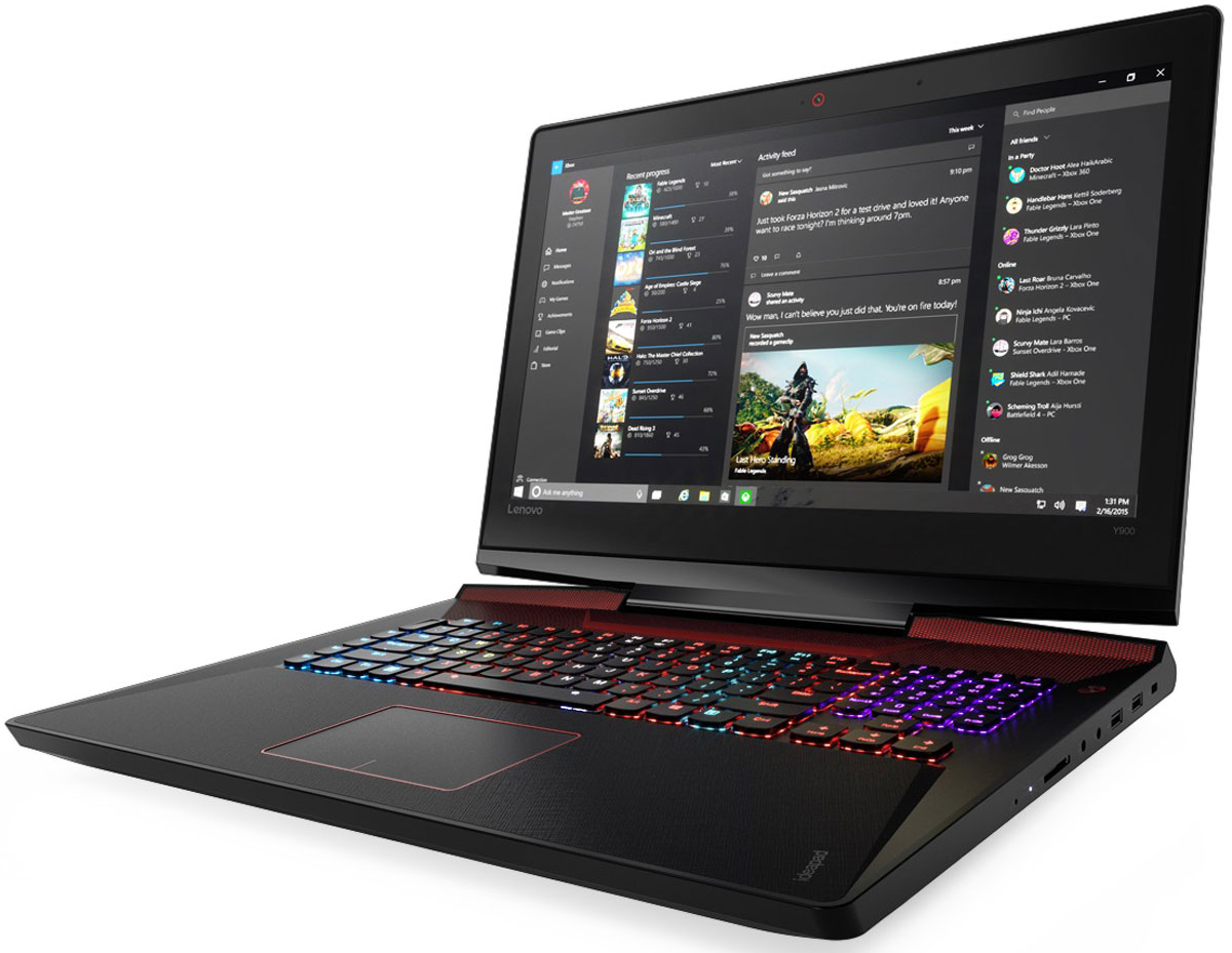 Lenovo IdeaPad Y900, Black (80Q1001GRK)80Q1001GRKLenovo IdeaPad Y900 отлично подходит для игр, просмотра фильмов и изображений.Высокопроизводительный процессор, видеокарта и аудиосистема, а также сверхчувствительная клавиатура с подсветкой, режим разгона процессора и система охлаждения обеспечивают высочайшую игровую мощь Ideapad Y900. Дополнительная оперативная память и высокопроизводительные накопители дают непревзойденные возможности.Процессоры 6-го поколения Intel Core серии i устанавливают новые стандарты производительности. Высокопроизводительные, многофункциональные процессоры со встроенной системой безопасности открывают качественно новые возможности для работы, творчества и игр.В погоне за врагом ты не можешь позволить себе уступить. Дискретная видеокарта NVIDIA GeForce и технология G-Sync обеспечивают высокую четкость изображения и плавность работы устройства.Lenovo Ideapad Y900 отлично подходит для игр, просмотра фильмов и изображений. 17,3-дюймовый дисплей Full HD с антибликовым покрытием и поддержкой технологии In-Plane Switching (IPS) обеспечивает яркие цвета и почти 180-градусный угол обзора.Наслаждайтесь с технологией Dolby Home Theater объемным звуком везде, куда жизнь может вас занести. Встроенные стереофонические динамики JBL и сабвуфер обеспечивают превосходное качество звука в играх, при прослушивании музыки и просмотре видео.Высокая точность и скорость отклика благодаря высокопроизводительным технологиям Killer WLAN и Bluetooth 4.0 позволят окунуться в мир онлайн-игр.Система охлаждения обеспечивает регулировку скорости вращения вентиляторов и поддержку оптимальной температуры для повышения производительности и удобства использования вашего ноутбука.Точные характеристики зависят от модификации.Ноутбук сертифицирован EAC и имеет русифицированную клавиатуру и Руководство пользователя