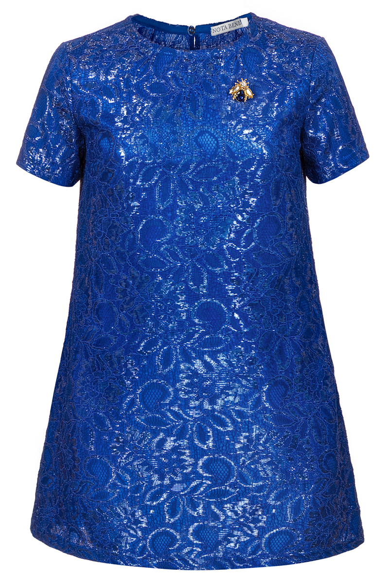 Платье для девочки Nota Bene, цвет: васильковый. 17421120281. Размер 15217421120281