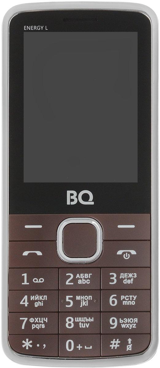 BQ 2426 Energy L, Brown85954001BQ 2426 Energy L оснащен 2.4 дюймовым дисплеем с достаточной для комфортного просмотра -цветопередачей. Помимо основной функции связи, в телефоне предусмотрены встроенное FM-радио и модуль Bluetooth.Помимо аудио-звонка, в BQ 2426 Energy L установлен виброзвонок для работы в бесшумном или режиме полета. Аккумулятор мощностью 2500 мAч обеспечит до нескольких дней автономной работы смартфона. Металлическая крыша это не только удачное решение, но реальное увеличение прочности аппарата.Телефон сертифицирован EAC и имеет русифицированную клавиатуру, меню и Руководство пользователя.