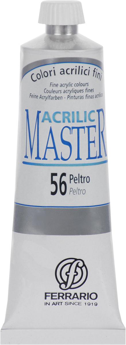 Ferrario Краска акриловая Acrilic Master цвет №56 металл BM09760CO56BM09760CO56Акриловые краски серии Acrilic Master итальянской компании Ferrario. Универсальны в применении, так как хорошо ложатся на любую обезжиренную поверхность: бумага, холст, картон, дерево, керамика, пластик. При изготовлении красок используются высококачественные пигменты мелкого помола. Краска быстро сохнет, обладает отличной укрывистостью и насыщенностью цвета. Работы, сделанные с помощью Acrilic Master, не тускнеют и не выгорают на солнце. Все цвета отлично смешиваются между собой и при необходимости разбавляются водой. Для достижения необходимых эффектов применяют различные медиумы для акриловой живописи.