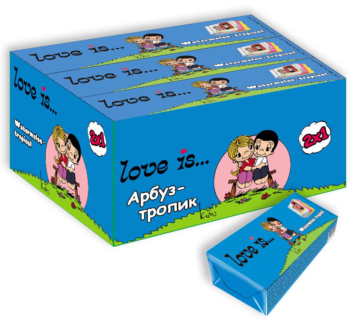 Love is Арбуз-тропик жевательные конфеты, 12 шт love is микс жевательные конфеты девочки 125 г