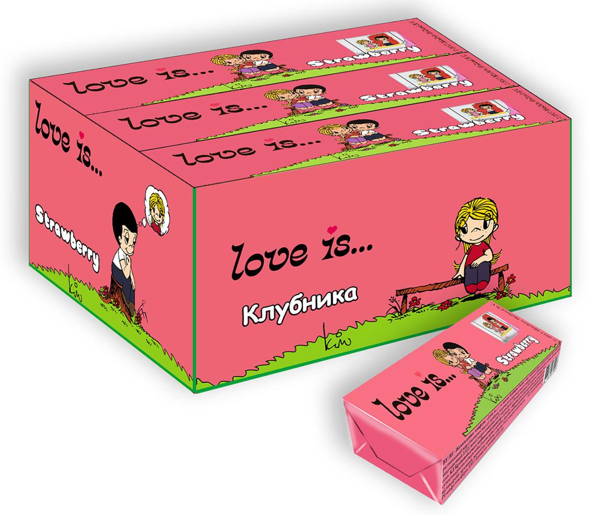 Love is Клубника жевательные конфеты, 12 шт love is микс жевательные конфеты девочки 125 г