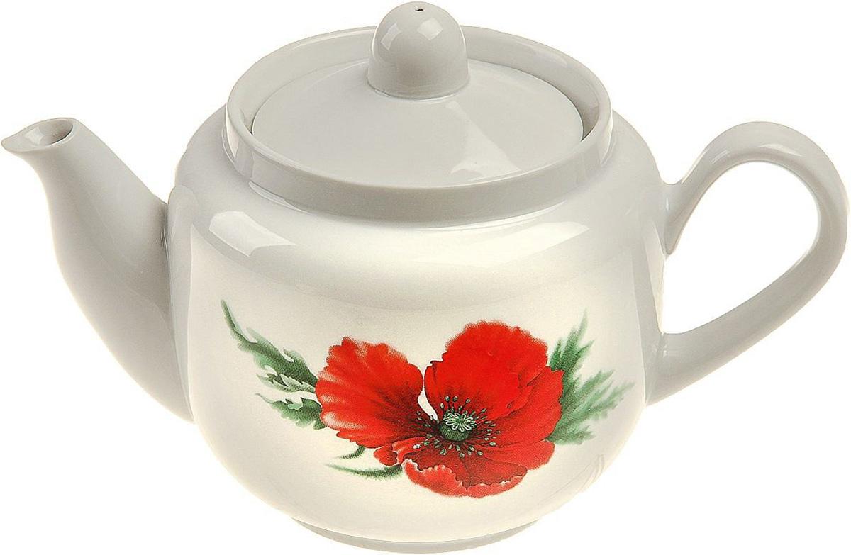 Чайник заварочный Фарфор Вербилок Маков цвет, 600 мл. 173773173773От качества посуды зависит не только вкус еды, но и здоровье человека. Чайник - товар, соответствующий российским стандартам качества. Любой хозяйке будет приятно держать его в руках. С такой посудой и кухонной утварью приготовление еды и сервировка стола превратятся в настоящий праздник.