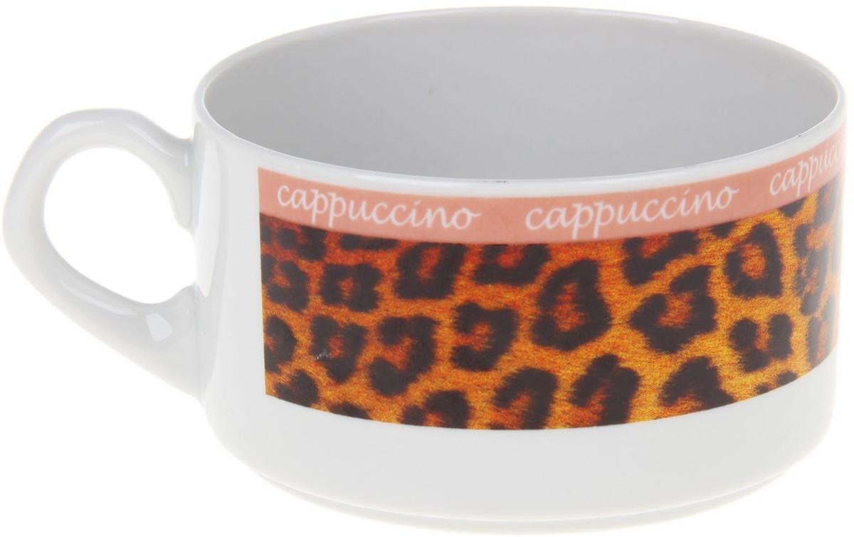 Чашка кофейная Фарфор Вербилок Европейка. Капучино. Леопард, 230 мл. 12627841262784От качества посуды зависит не только вкус еды, но и здоровье человека. Чашка - товар, соответствующий российским стандартам качества. Любой хозяйке будет приятно держать его в руках. С такой посудой и кухонной утварью приготовление еды и сервировка стола превратятся в настоящий праздник.