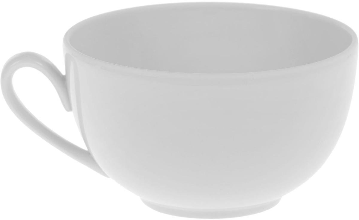 Чашка Фарфор Вербилок Бульонка, 400 мл. 13331441333144Чашка Фарфор Вербилок Бульонка способна скрасить любое чаепитие. Изделие выполнено из высококачественного фарфора. Посуда из такого материала позволяет сохранить истинный вкус напитка, а также помогает ему дольше оставаться теплым.
