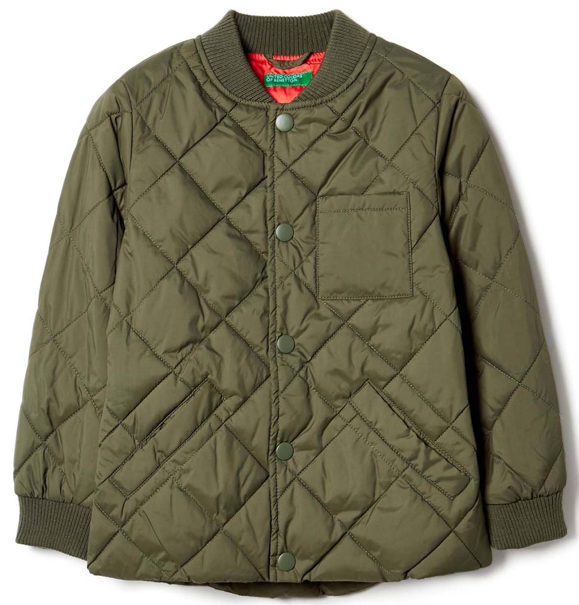 Куртка для мальчика United Colors of Benetton, цвет: зеленый. 2WU053A90_12G. Размер 1202WU053A90_12GКуртка для мальчика United Colors of Benetton выполнена из полиэстера. Модель с длинными рукавами застегивается на кнопки.