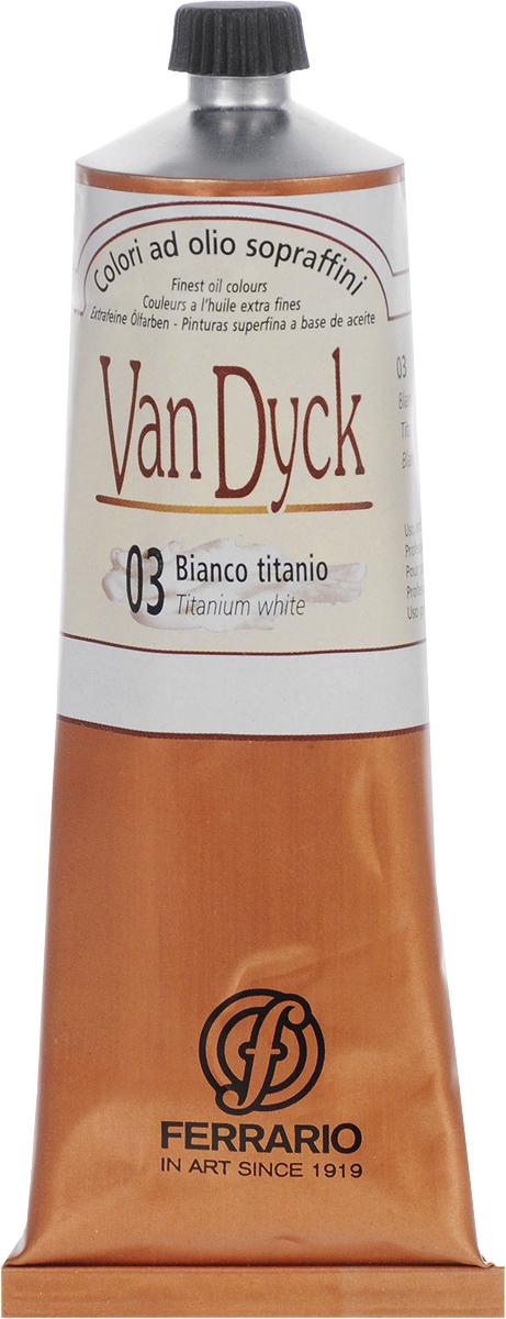Ferrario Краска масляная Van Dyck цвет № 03 белила титанAV00210003Масляные краски серии Van Dyck итальянской компании Ferrario изготавливаются из натуральных мелко тертых пигментов с добавлением качественного связующего материала. Благодаря этому масляные краски Van Dyck обладают превосходной светостойкостью, чистотой цветов и оттенков. Краски можно разбавлять льняным маслом, терпентином или нефтяными разбавителями. Все цвета хорошо смешиваются между собой.В серии масляных красок Van Dyck представлено 87 различных оттенков, а также 6 металлических оттенков.