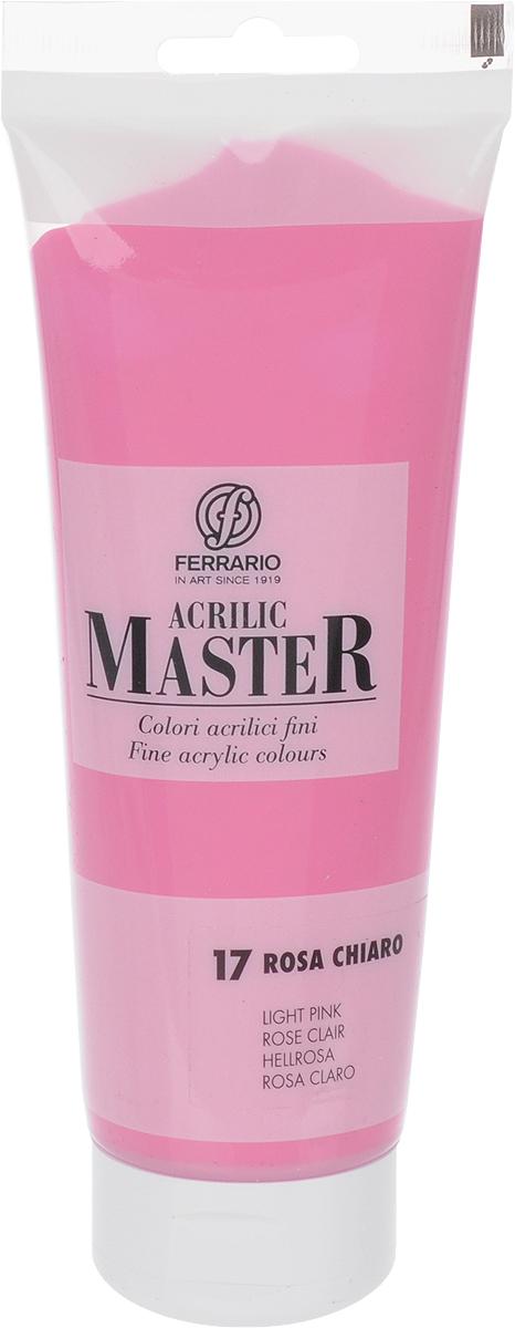 Ferrario Краска акриловая Acrilic Master цвет №17 розовый светлый BM0978B0017BM0978B0017Акриловые краски серии Acrilic Master итальянской компании Ferrario. Универсальны в применении, так как хорошо ложатся на любую обезжиренную поверхность: бумага, холст, картон, дерево, керамика, пластик. При изготовлении красок используются высококачественные пигменты мелкого помола. Краска быстро сохнет, обладает отличной укрывистостью и насыщенностью цвета. Работы, сделанные с помощью Acrilic Master, не тускнеют и не выгорают на солнце. Все цвета отлично смешиваются между собой и при необходимости разбавляются водой. Для достижения необходимых эффектов применяют различные медиумы для акриловой живописи.