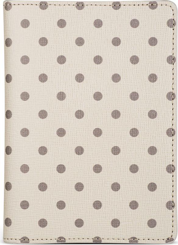 Обложка для паспорта Avanzo Daziaro Сафьяно, цвет: серый, бежевый. 019-1019PD05