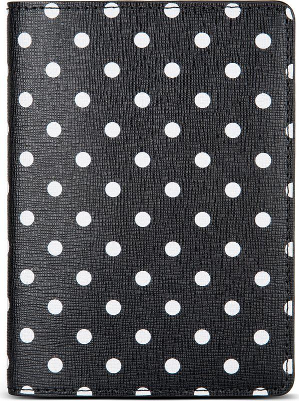 Обложка для паспорта Avanzo Daziaro Сафьяно, цвет: черный, белый. 019-1019PDB