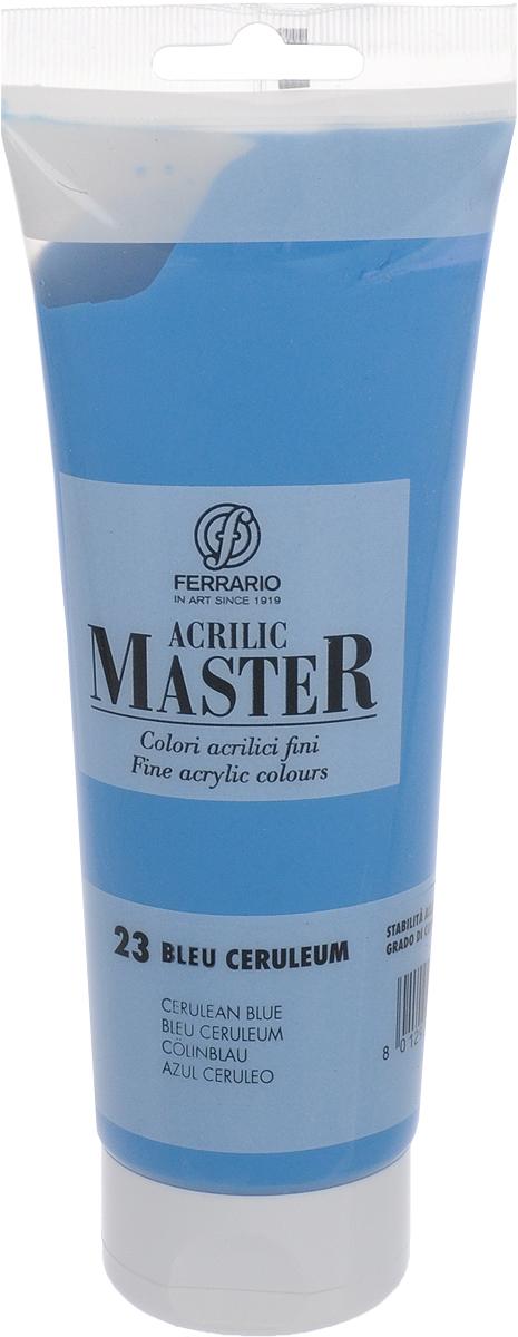 Ferrario Краска акриловая Acrilic Master цвет №23 церулеум BM0978B0023BM0978B0023Акриловые краски серии Acrilic Master итальянской компании Ferrario. Универсальны в применении, так как хорошо ложатся на любую обезжиренную поверхность: бумага, холст, картон, дерево, керамика, пластик. При изготовлении красок используются высококачественные пигменты мелкого помола. Краска быстро сохнет, обладает отличной укрывистостью и насыщенностью цвета. Работы, сделанные с помощью Acrilic Master, не тускнеют и не выгорают на солнце. Все цвета отлично смешиваются между собой и при необходимости разбавляются водой. Для достижения необходимых эффектов применяют различные медиумы для акриловой живописи.