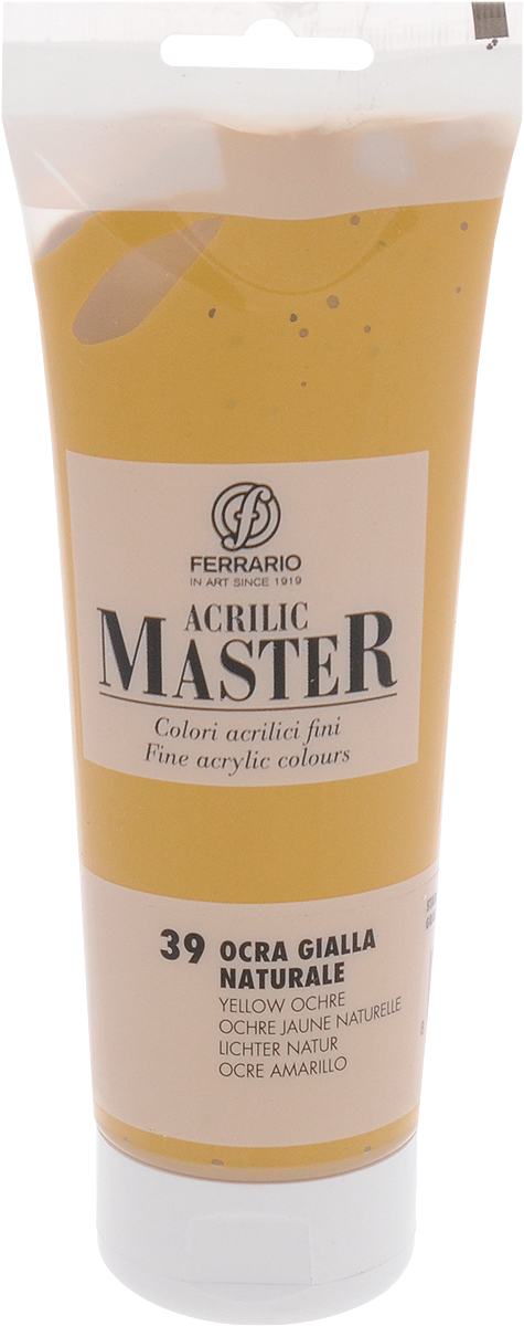 Ferrario Краска акриловая Acrilic Master цвет №39 охра желтая BM0978B0039BM0978B0039Акриловые краски серии Acrilic Master итальянской компании Ferrario. Универсальны в применении, так как хорошо ложатся на любую обезжиренную поверхность: бумага, холст, картон, дерево, керамика, пластик. При изготовлении красок используются высококачественные пигменты мелкого помола. Краска быстро сохнет, обладает отличной укрывистостью и насыщенностью цвета. Работы, сделанные с помощью Acrilic Master, не тускнеют и не выгорают на солнце. Все цвета отлично смешиваются между собой и при необходимости разбавляются водой. Для достижения необходимых эффектов применяют различные медиумы для акриловой живописи.