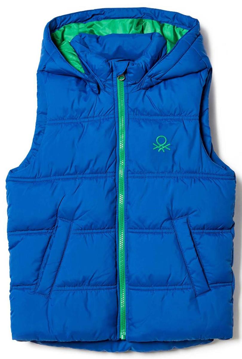 Жилет для мальчиков United Colors of Benetton, цвет: синий, зеленый. 2WU05G050_33M. Размер 1602WU05G050_33M