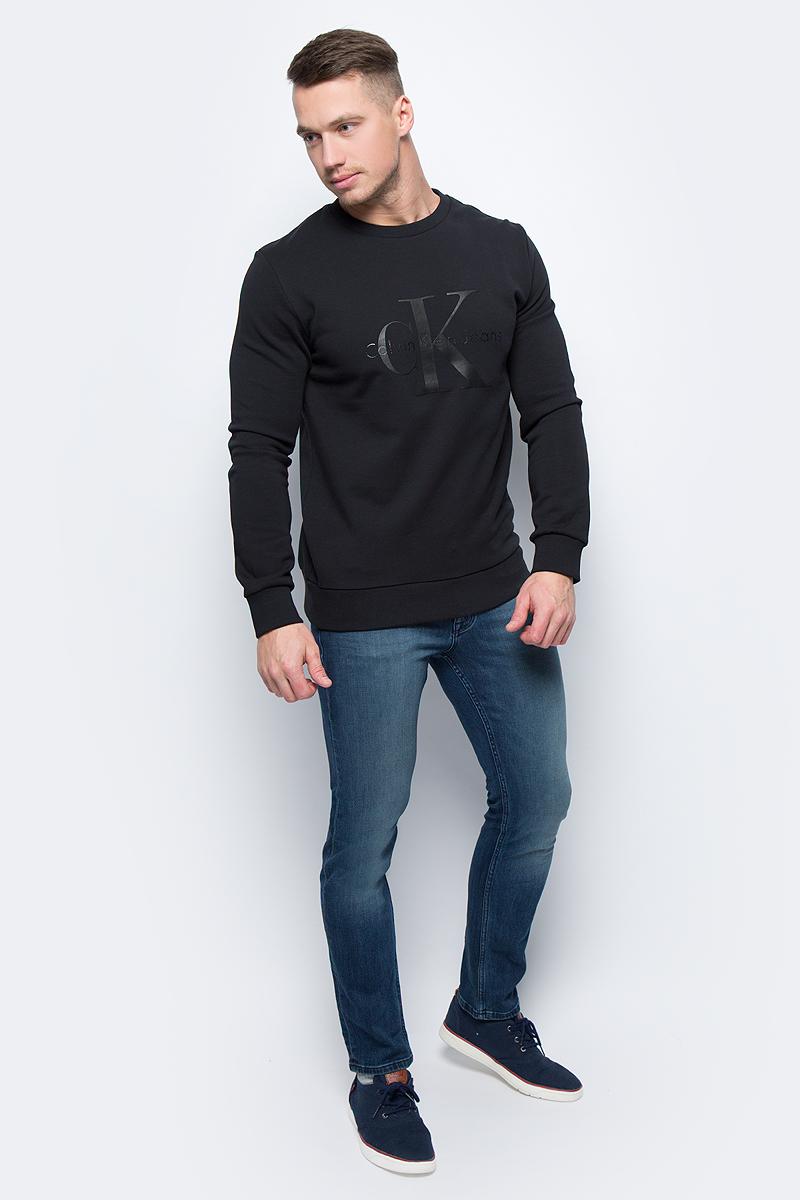 Джемпер мужской Calvin Klein Jeans, цвет: черный. J30J305954_0990. Размер M (44/46)J30J305954_0990Джемпер мужской Calvin Klein Jeans выполнен из натурального хлопка. Модель с круглым вырезом горловины и длинными рукавами.