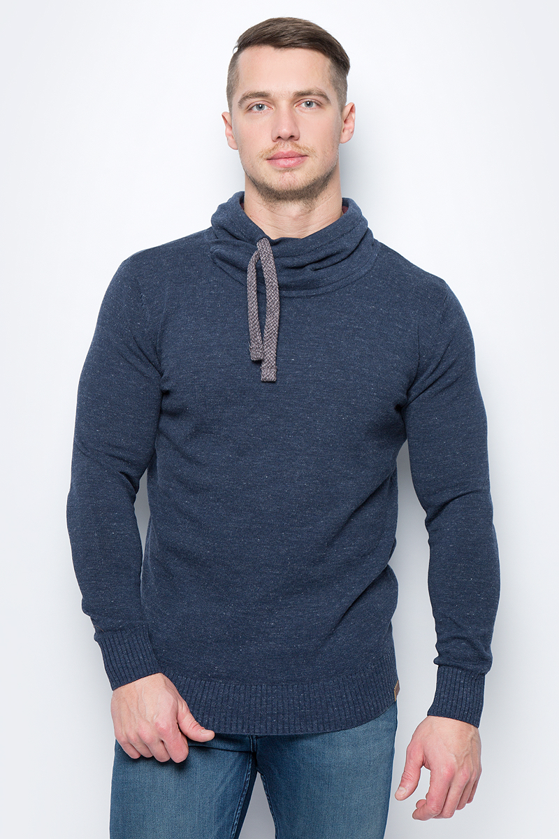 Свитер мужской Tom Tailor, цвет: синий. 3023102.99.10_6519. Размер M (48) красная фасоль hodo мужской моды жаккард свитер мужской шея свитер мужской синий 110 b1