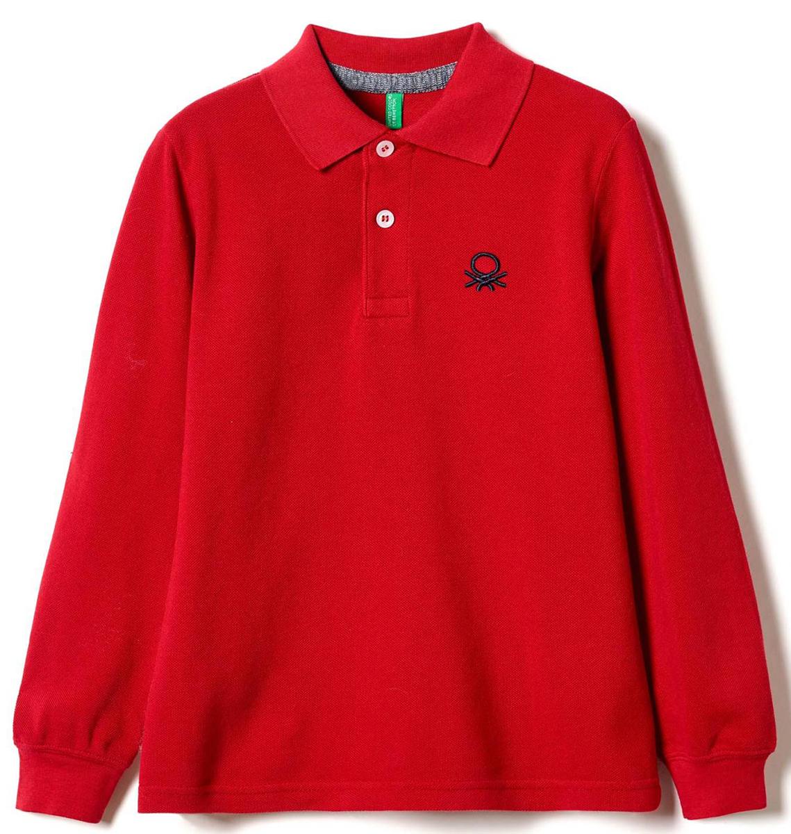 Поло для мальчиков United Colors of Benetton, цвет: красный. 3089C3302_07C. Размер 1503089C3302_07C
