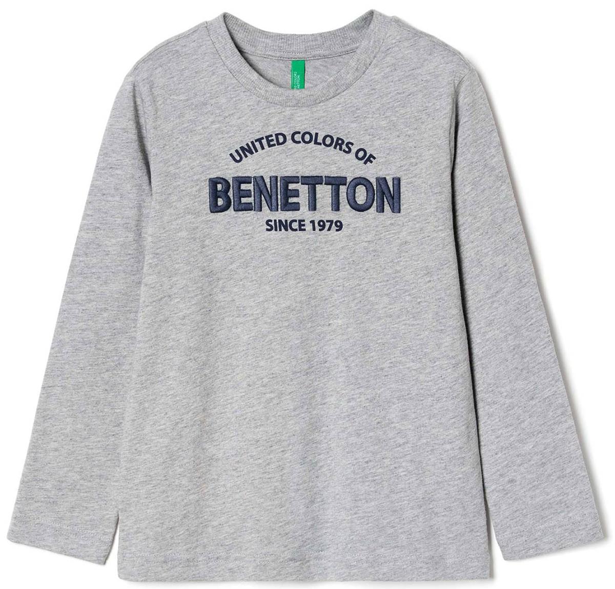 Майка для мальчиков United Colors of Benetton, цвет: серый. 3096C13GW_501. Размер 1603096C13GW_501