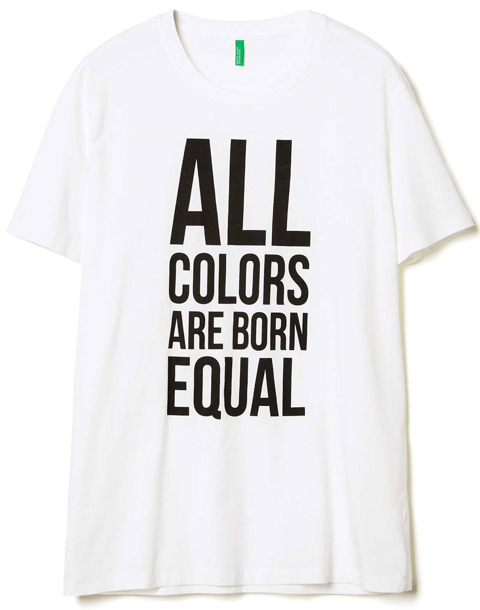 Майка муж United Colors of Benetton, цвет: белый. 3096J10F3_101. Размер XL (52/54)3096J10F3_101