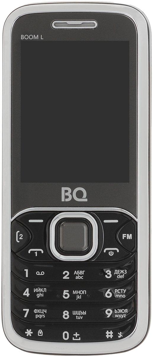 BQ 2427 Boom L, Black85953741BQ 2427 Boom L простой сотовый телефон в стильном корпусе. Он оснащен 2.4 дюймовым дисплеем с достаточной для комфортного просмотра -цветопередачей. Помимо основной функции связи, в телефоне предусмотрен встроенный модуль Bluetooth.Данная модель также обладает громким внешним динамиком и слотом для карты памяти объемом до 8 Гб. Также оснащен встроенной фотокамерой 1,3 Мпикс.Телефон сертифицирован EAC и имеет русифицированную клавиатуру, меню и Руководство пользователя.