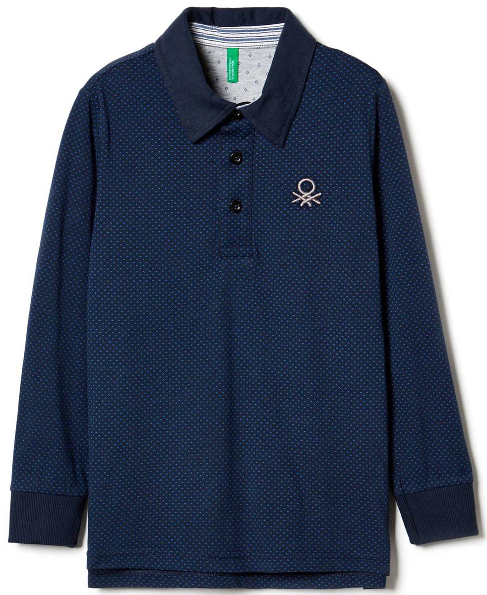 Поло для мальчиков United Colors of Benetton, цвет: синий. 3DU8C3065_61Z. Размер 1303DU8C3065_61ZПоло с длинным рукавом для мальчика United Colors of Benetton выполнено из натурального хлопка. Модель с отложным воротником застегивается на пуговицы.