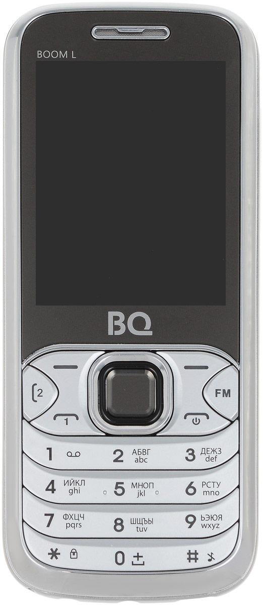 BQ 2427 Boom L, Silver85953744BQ 2427 Boom L простой сотовый телефон в стильном корпусе. Он оснащен 2.4 дюймовым дисплеем с достаточной для комфортного просмотра -цветопередачей. Помимо основной функции связи, в телефоне предусмотрен встроенный модуль Bluetooth.Данная модель также обладает громким внешним динамиком и слотом для карты памяти объемом до 8 Гб. Также оснащен встроенной фотокамерой 1,3 Мпикс.Телефон сертифицирован EAC и имеет русифицированную клавиатуру, меню и Руководство пользователя.