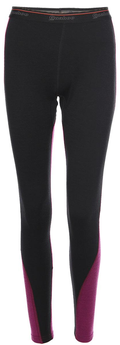 Панталоны женские Guahoo, цвет: черный, лиловый. G22-9481P/BK-LC. Размер 3XL (54)G22-9481P/BK-LCДвухслойная модель предназначена для повседневной носки в холодную и очень холодную погоду. Внешний слой с высоким содержанием шерсти прекрасно сохраняет тепло, придает мягкость и прочность изделию. Внутренний слой из полипропилена отводит влагу, придает прочность, предотвращает усадку и деформацию изделия. Рекомендуется предварительная стирка перед первым применением белья.