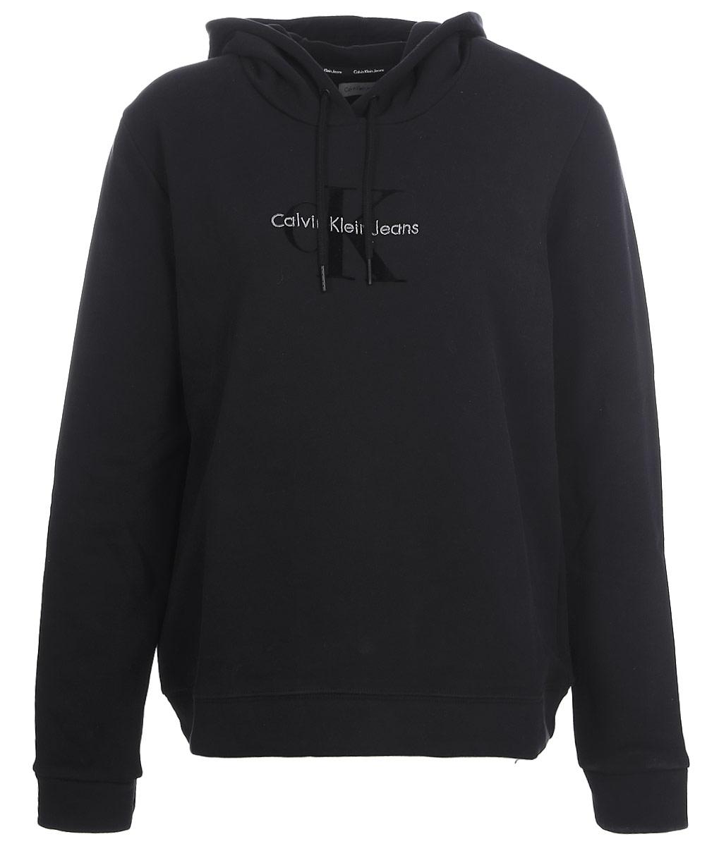 Толстовка женская Calvin Klein Jeans, цвет: черный. J20J205650_0990. Размер XL (48/50) футболка женская calvin klein jeans цвет бежевый j20j204833 размер xl 48 50
