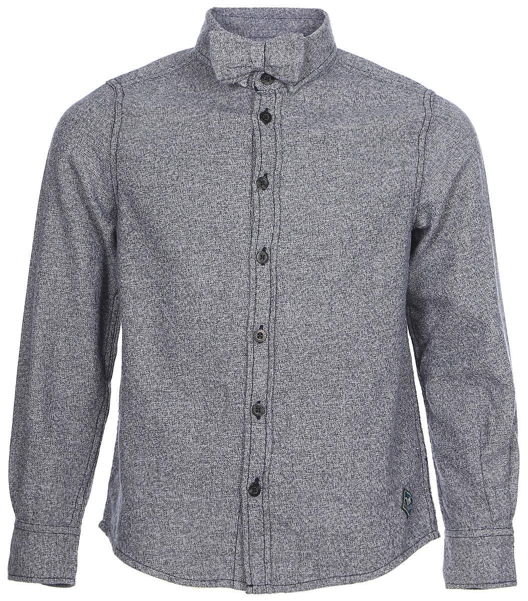 Рубашка для мальчика Tom Tailor, цвет: серый. 2033663.00.82_6800. Размер 104/1102033663.00.82_6800Рубашка для мальчика от Tom Tailor выполнена из натурального хлопка. Модель с длинными рукавами и отложным воротником застегивается на пуговицы.