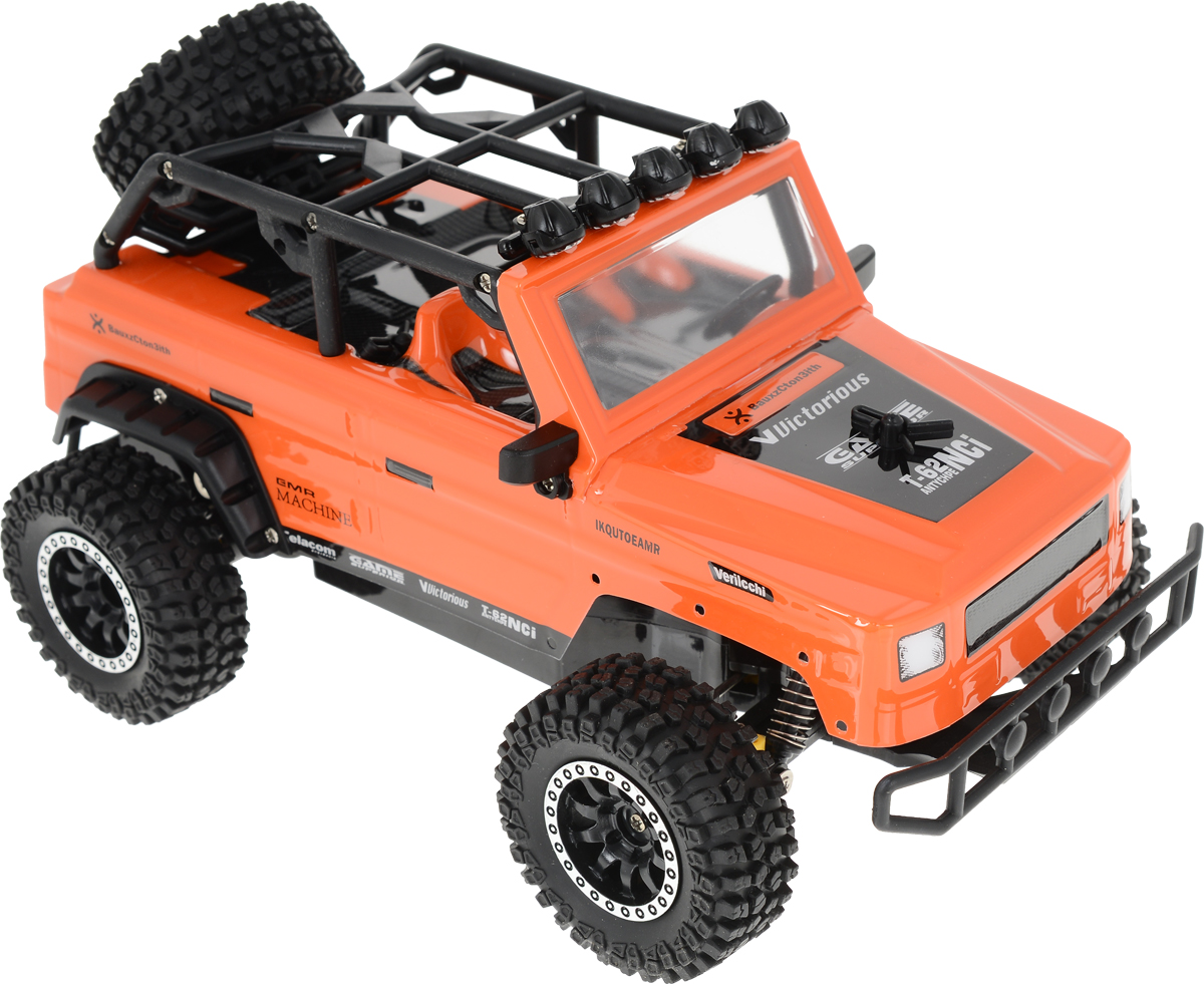 Пламенный мотор Джип на радиоуправлении Сафари цвет оранжевый пламенный мотор пламенный мотор джип сафари радиоуправляемый черный
