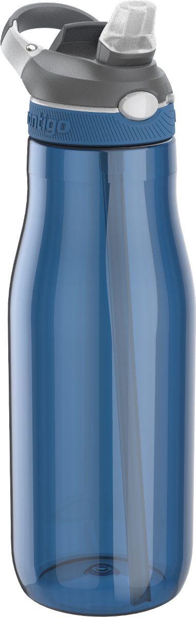 Бутылка для воды Contigo Ashland, цвет: синий, 1200 млcontigo0459Бутылка для воды Contigo Ashland является отличным решением для тех, кто делает осознанный выбор в пользу практичности и комфорта. Благодаря тщательно продуманной форме вы с легкостью сможете положить ее в рюкзак либо сумку. Кроме этого бутылка для воды Ashland отлично поместится в подстаканник в автомобиле. Горлышко бутылки AutoSpout закрывается надежно и герметично. Благодаря этому вы получите полную уверенность в том, что даже при перекидывании бутылки ее содержимое не перельется, испортив тем самым важные документы либо электронные девайсы.В случае необходимости вы можете пить воду из бутылки Ashland через трубочку, что крайне удобно. Наличие специального карабина предоставляет возможность носить бутылку на поясе или прикреплять ее к рюкзаку. Она изготовлена из инновационного пластика Tritan, запатентованного американской компанией Contigo. Он обладает повышенной прочностью и абсолютно не боится даже самых серьезных ударов. При желании предлагаемую бутылку вы можете мыть в посудомоечной машине. Ashland - это прекрасный и практичный аксессуар, который займет достойное место в современном арсенале каждого спортсмена!