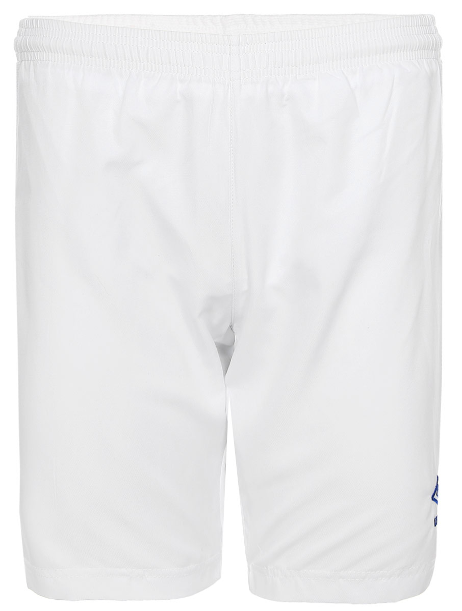 Шорты спортивные для мальчика Umbro Armada Short, цвет: белый, синий. 130115. Размер YXL (158)130115Трусы игровые футбольные детские. Технологичный материал. Кокетка из сетки для дополнительного отвода влаги. Технология Tech inside. С подтрусниками.