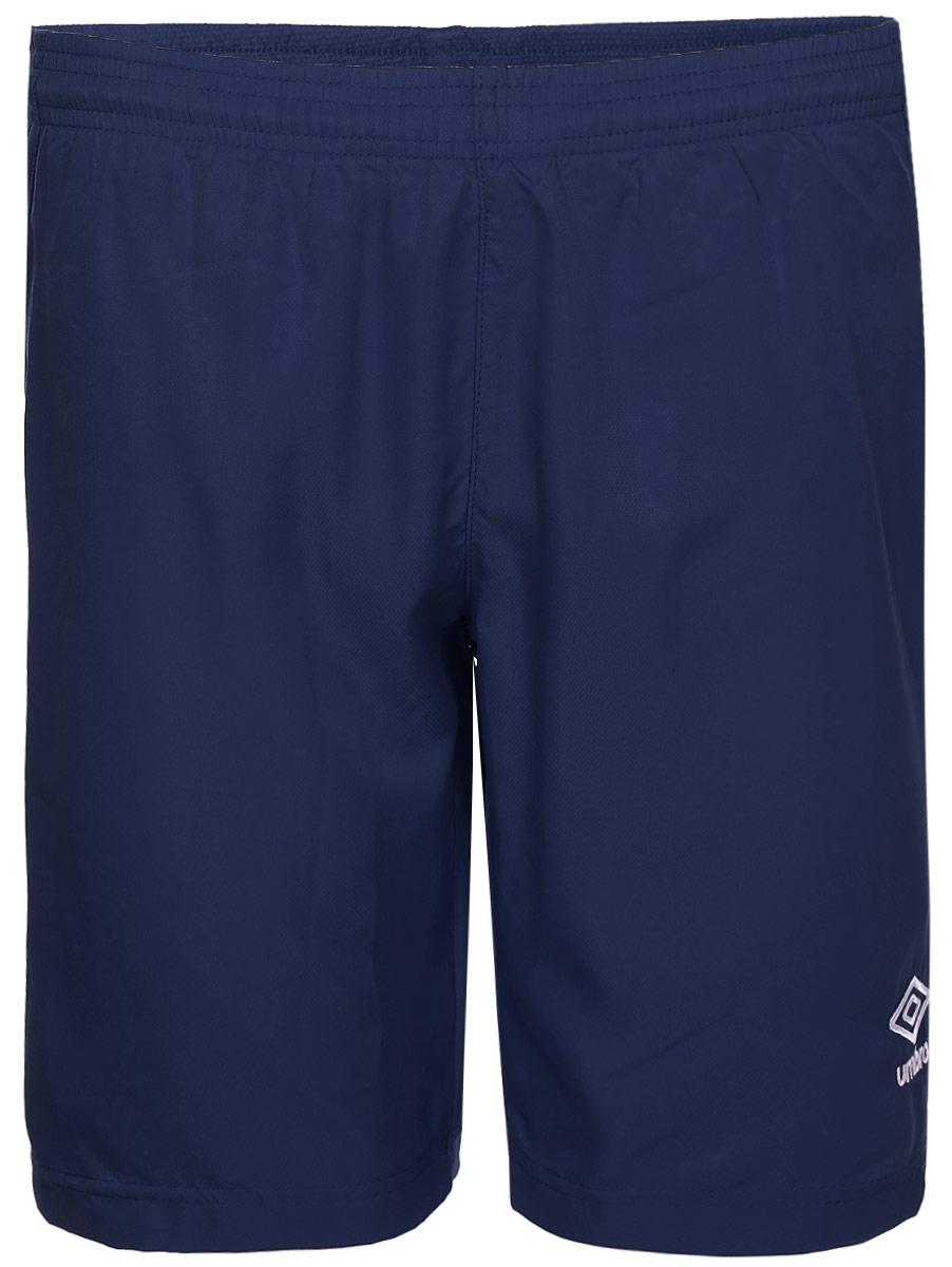 Шорты спортивные для мальчика Umbro Campo Short, цвет: темно-синий, белый. 130117. Размер YL (152)130117Шорты, выполненные из 100% полиэстера, отлично подойдут для игр и частых и активных футбольных тренировок. Модель на поясе имеет широкую эластичную резинку.