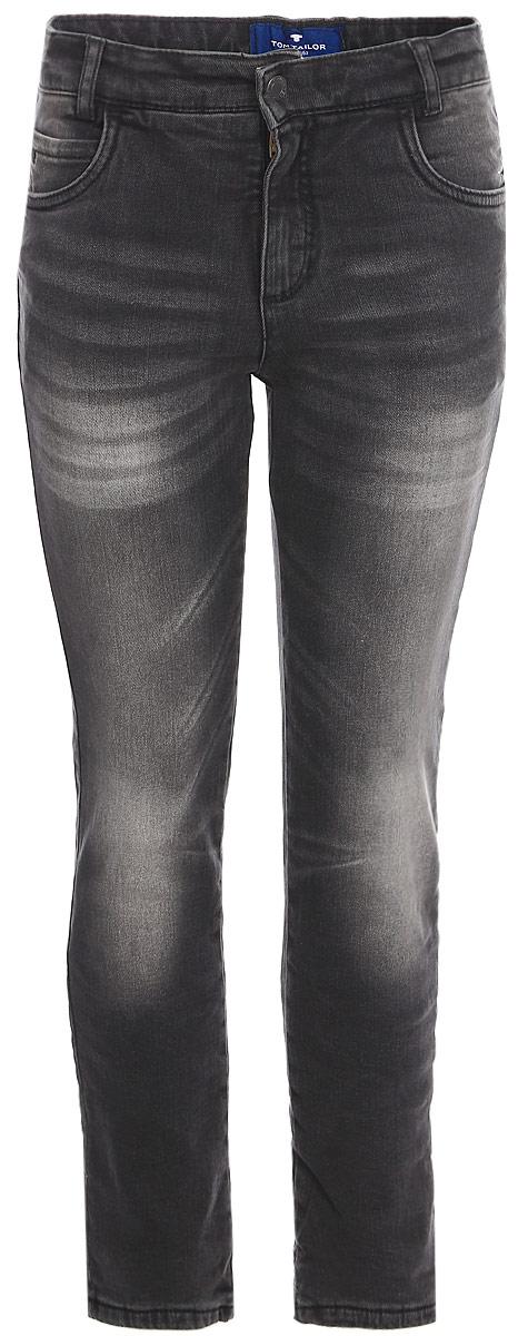 Джинсы для мальчика Tom Tailor, цвет: черный. 6205873.00.82_1200. Размер 104 джинсы для мальчика tom tailor цвет темно синий 6205478 00 30 1097 размер 146