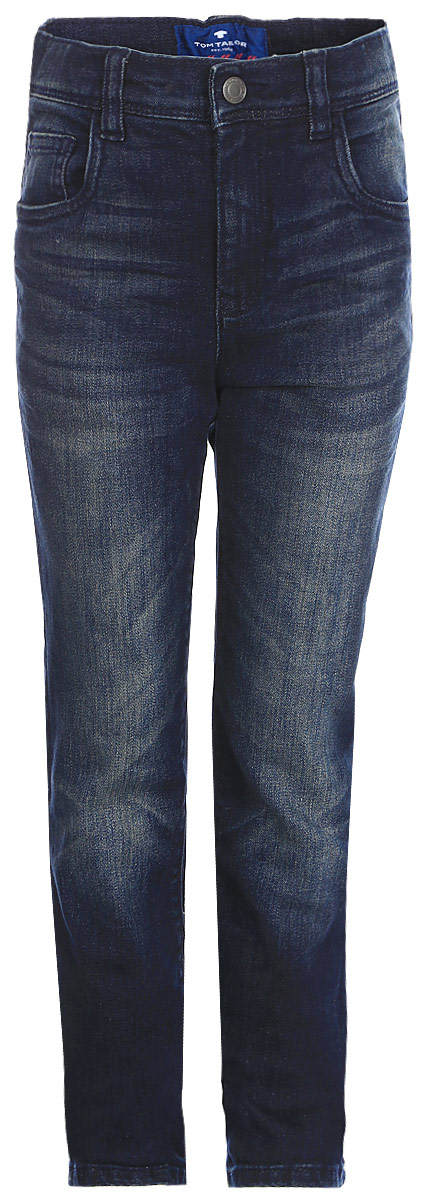 Джинсы для мальчика Tom Tailor, цвет: синий. 6205872.00.82_1197. Размер 986205872.00.82_1197Джинсы для мальчика Tom Tailor выполнены из эластичного хлопка. Модель зауженного кроя в поясе застегивается на пуговицу и имеет ширинку на молнии. Имеются шлевки для ремня. Джинсы имеют классический пятикарманный крой.