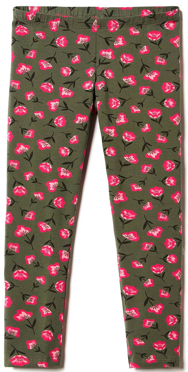 Брюки для девочек United Colors of Benetton, цвет: серый, розовый, цветы. 3DY5I0446_927. Размер 1303DY5I0446_927
