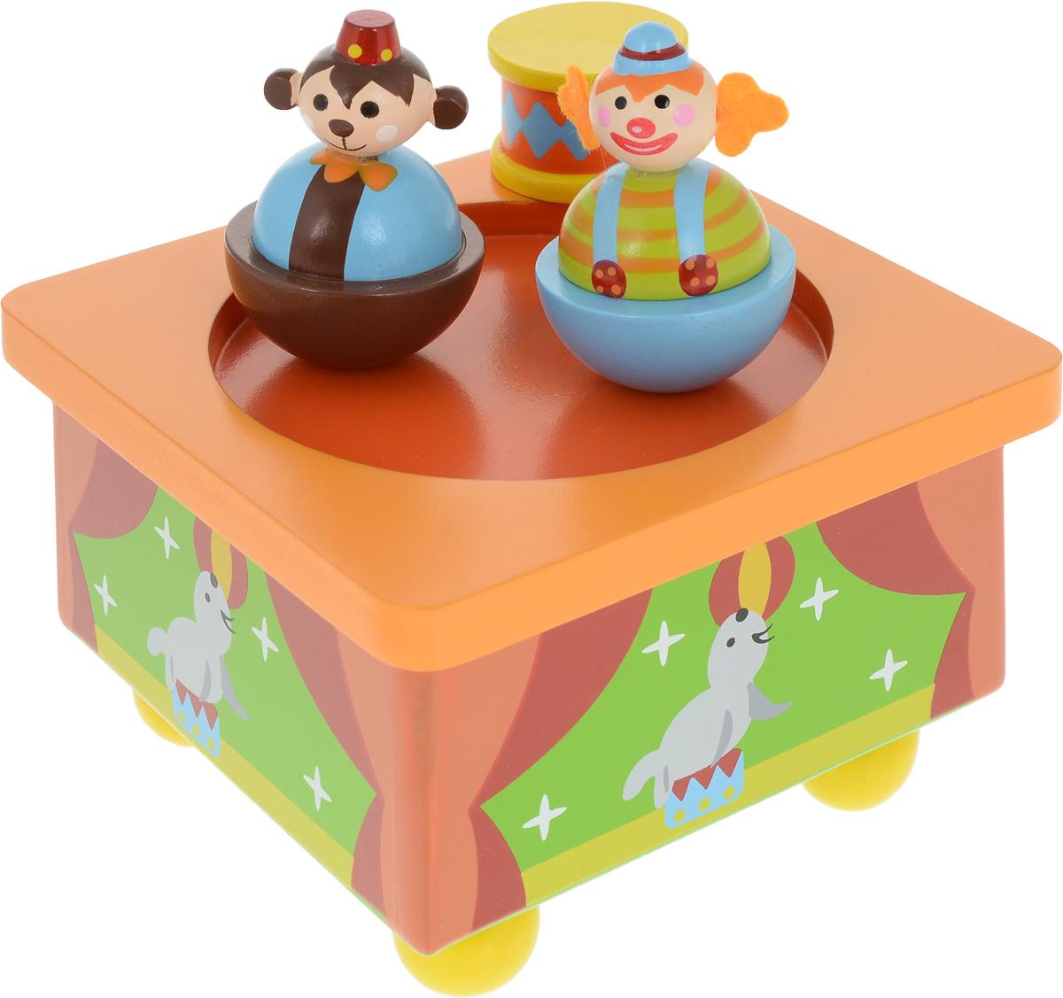 Mapacha Музыкальная игрушка Волшебная коробочка Клоуны деревянная коробочка