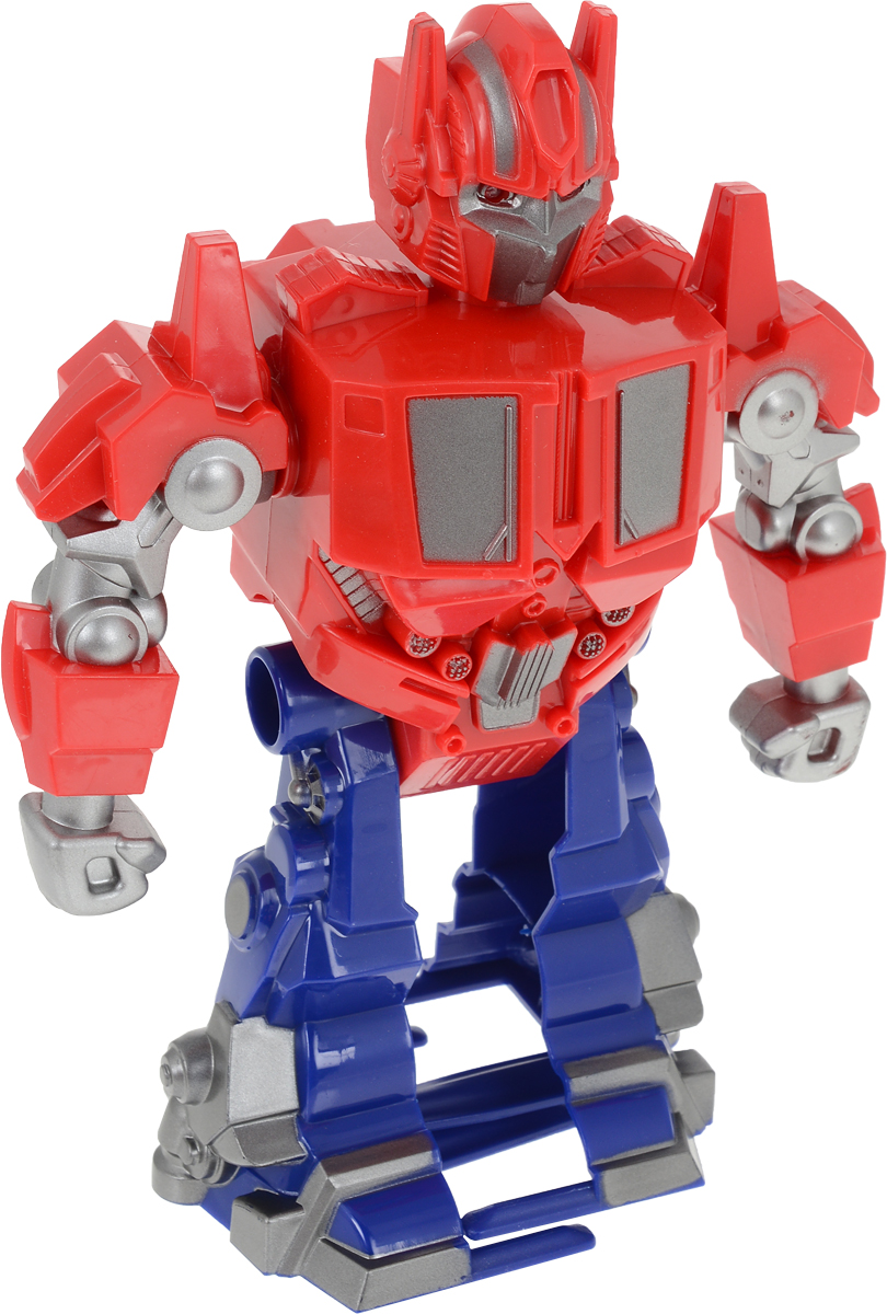 Shantou Gepai Робот цвет красный синий машинки hti паровозик roadsterz синий с вагоном звуковыми и световыми эффектами