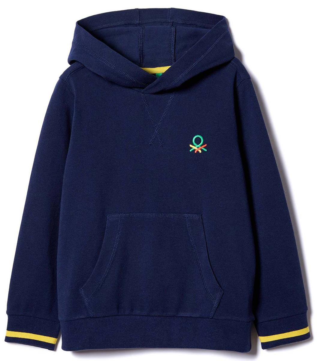 Толстовка для мальчика United Colors of Benetton, цвет: синий. 3DZ0C2069_13C. Размер 1303DZ0C2069_13CТолстовка для мальчика United Colors of Benetton выполнена из натурального хлопка. Модель с капюшоном и длинными рукавами.
