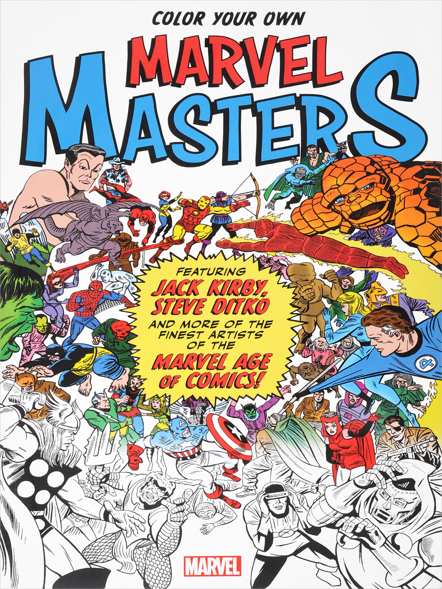 Color Your Own Marvel Masters masters of the universe