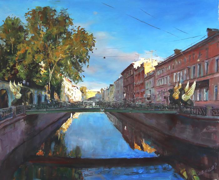 Картина Банковский мост. Холст, масло. 50х60 см