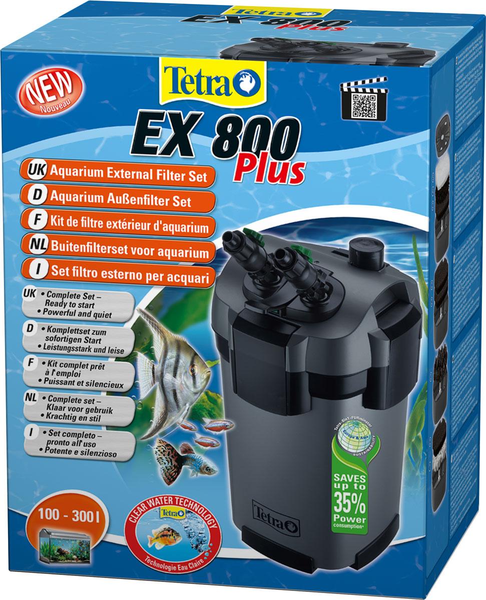 Внешний фильтр Tetra EX 800 Plus, для аквариумов 100-300 л240964Внешний аквариумный фильтр Tetra (Тетра) EX 800 Plus для аквариумов вместимостью 100-130 лУдобен в обслуживании, осуществляет безупречную фильтрацию воды в аквариуме, работает очень тихо.Загрязненная аквариумная вода очищается благодаря 5 различным видам фильтрующих наполнителей.Вода проходит через керамические кольца, биошарики, традиционную губку, угольный наполнитель и волокнистую прокладку, которые удаляют различные частицы грязи и обеспечивают биологическую, механическую и химическую фильтрацию. Очистка фильтра и замена наполнителей облегчается наличием удобных ручек на каждой из фильтрующих корзин.Сливная трубка и шланг могут быть легко отрегулированы под любой размер аквариума. Вентили, установленные на входе и выходе воды, позволяют точно настроить ее поток в соответствии с конкретными требованиями.Для очистки просто полностью закройте вентили, после чего отсоедините адаптер от самого фильтра. При этом вода остается в шлангах, что позволяет не выполнять ее повторную подкачку при следующем подключении фильтра.Фильтр предварительной очистки предотвращает загрязнение системы запуска фильтра и позволяет снизить необходимость обслуживания.В зависимости от уровня загрязнения и степени износа фильтрующие наполнители необходимо менять приблизительно каждые 6–12 месяцев.Высокое качество оборудования подтверждено трехлетним сроком гарантии.