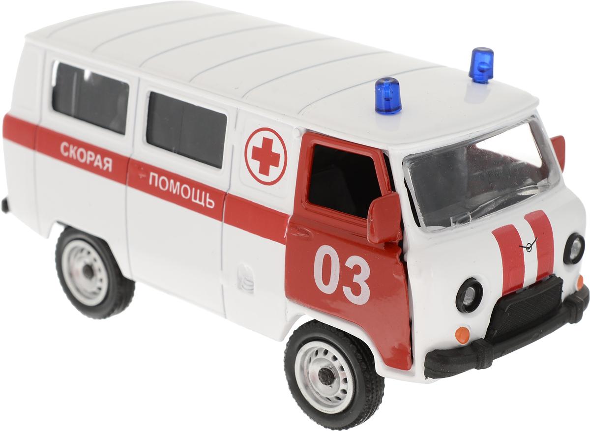 Autotime Модель автомобиля UAZ 39625 Скорая помощь машинки autotime машина uaz 31514 ваи