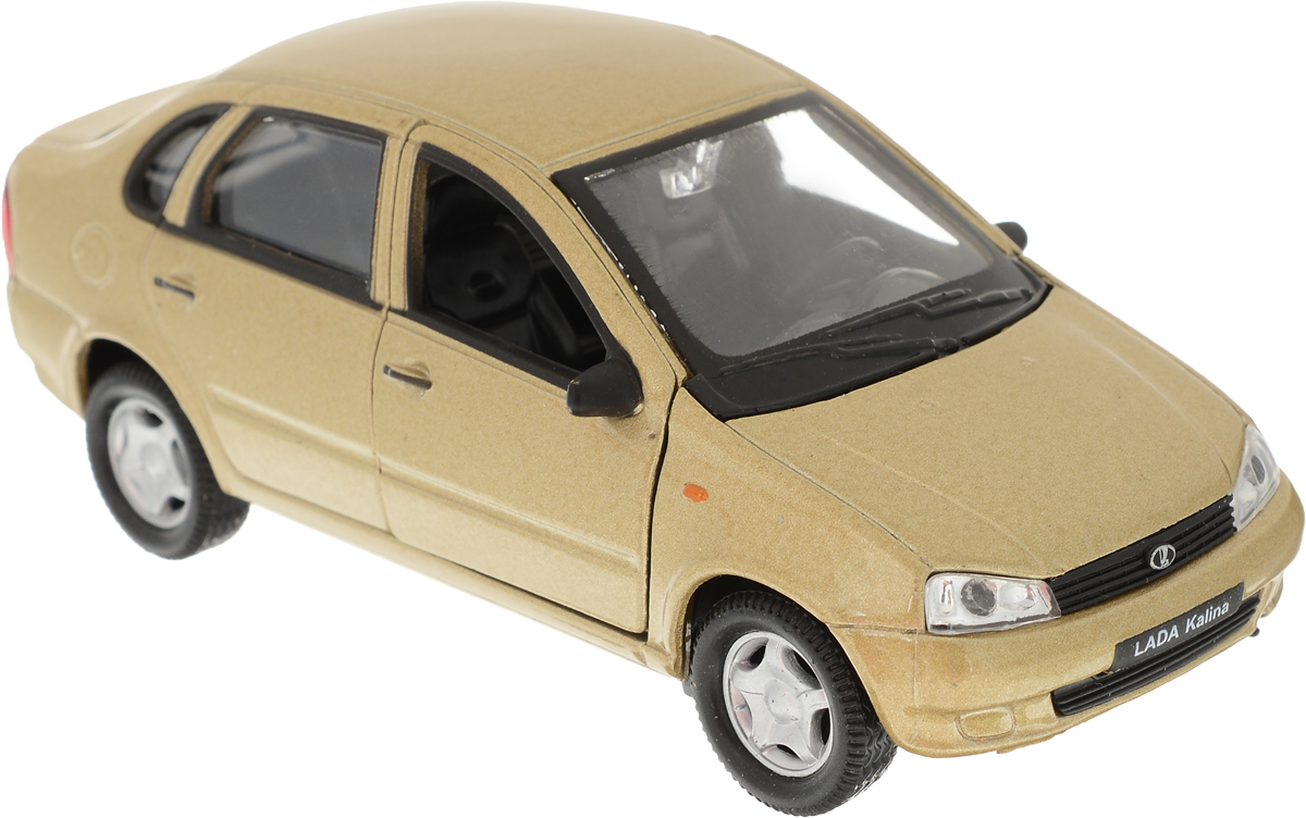 Welly Модель автомобиля LADA Kalina цвет золотистый