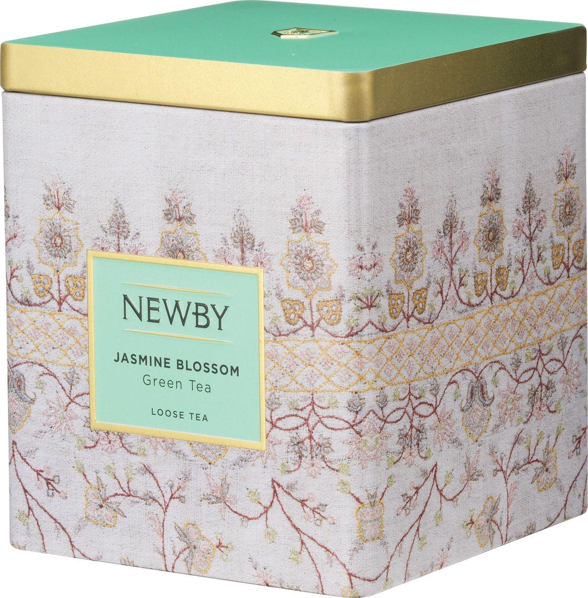 Newby Jasmine Blossom зеленый листовой чай, 125 г130090АКитайский листовой чай с ароматом цветов жасмина. Имеет светло-медовый оттенок и ароматное цветочное послевкусие. Состав: зеленый чай, натуральные цветки жасмина, Китай