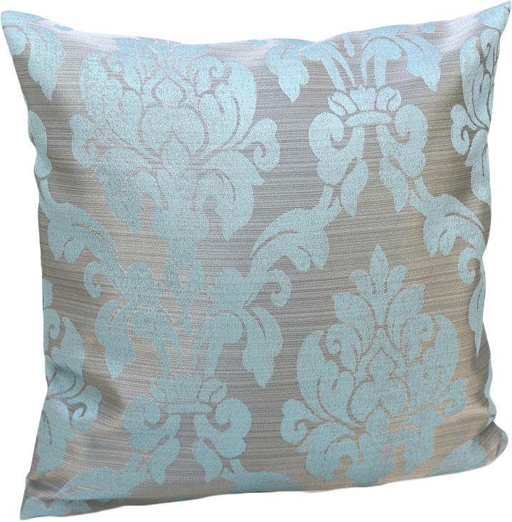 Подушка декоративная KauffOrt Афина, цвет: голубой, 40 х 40 см штора легкая kauffort barolo