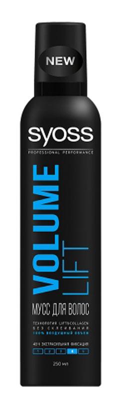 Мусс для укладки волос Syoss Volume Lift, Объем, экстрасильная фиксация, 250 мл термозащитный спрей для укладки syoss