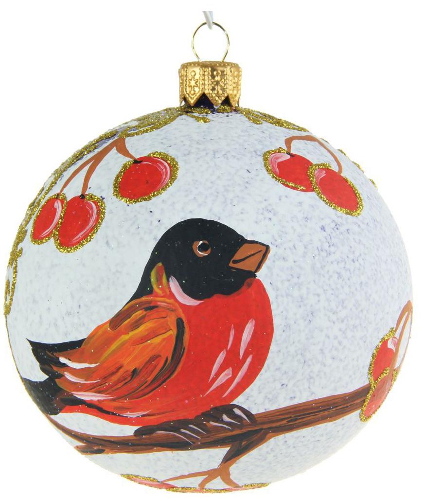 Украшение новогоднее елочное Иней Снегирь, диаметр 8,5 см1519302Новогоднее подвесное украшение Иней отлично подойдет для декорации вашего дома и новогодней ели. Новогоднее украшение можно повесить в любом понравившемся вам месте. Но, конечно, удачнее всего оно будет смотреться на праздничной елке.Елочная игрушка - символ Нового года. Она несет в себе волшебство и красоту праздника. Такое украшение создаст в вашем доме атмосферу праздника, веселья и радости.